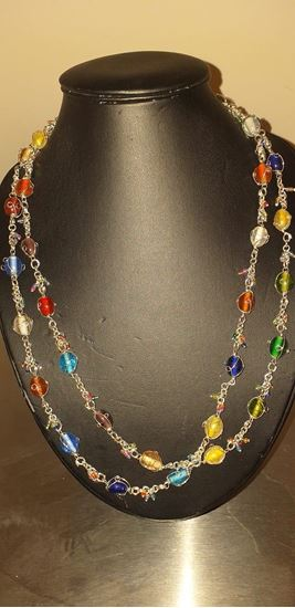 Picture of multi-colour bead necklace