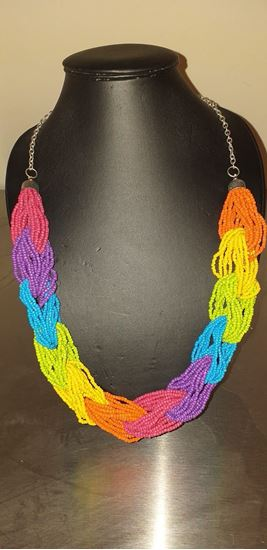 Picture of Bright colour loop bead necklace