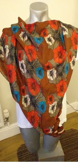 Picture of brown floral scarf