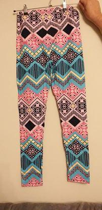 Picture of Pink aztec leggings
