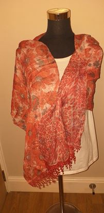 Picture of Orange double sided scarf