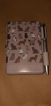 Picture of Handbag cat notebook with pen