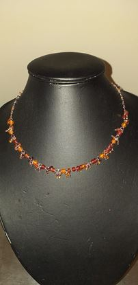 Picture of Orange & red bead necklace