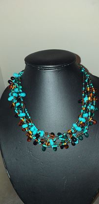 Picture of Turquoise brown necklace