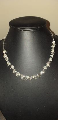 Picture of Dainty white sparkle necklace