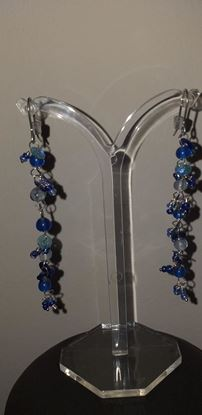 Picture of Blue bead earrings