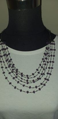 Picture of Tiny purple flower necklace