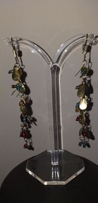 Picture of Gold & Multicolour bead earrings
