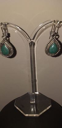 Picture of Turquoise colour stone earring