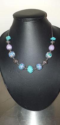 Picture of Blue & purple necklace
