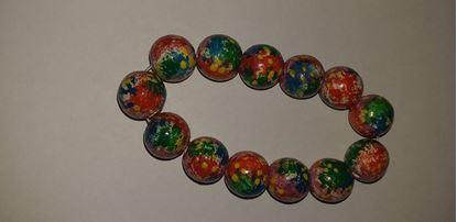 Picture of Multi-colour wooden bead bracelet