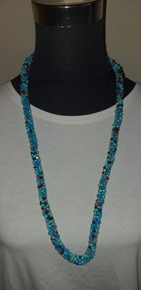 Picture of Turquoise mix bead necklace