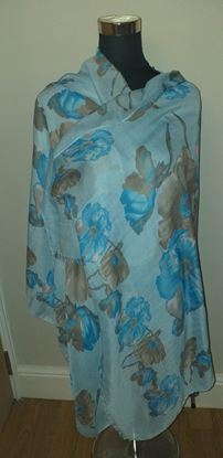 Picture of Blue flower scarf