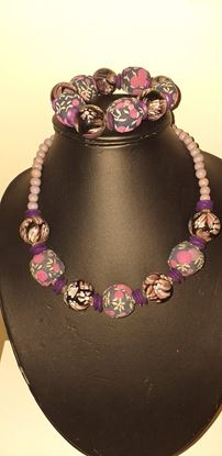 Picture of Purple necklace & bracelet set