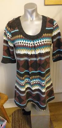 Picture of Brown teal tunic . Size S
