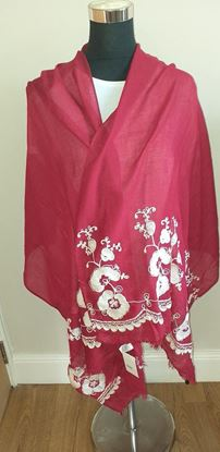Picture of Deep red scarf