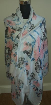 Picture of Pink floral scarf