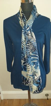 Picture of Blue scarf top