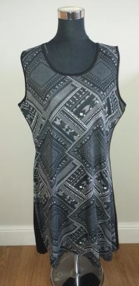 Picture of Black sleeveless dress