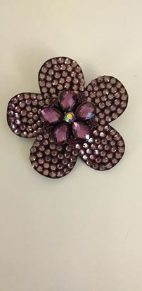 Picture of Purple flower brooch/hairclip