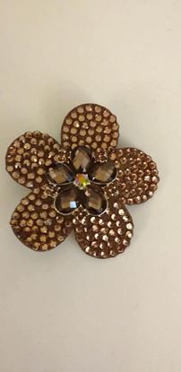 Picture of bronze flower brooch/hairclip
