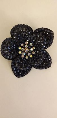 Picture of Black flower brooch/hairclip
