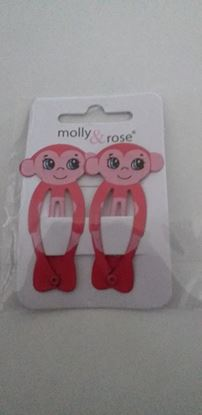 Picture of monkey hairclips -