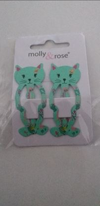 Picture of green cat hairclips -