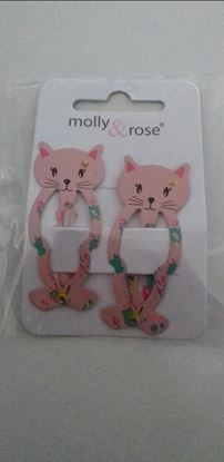 Picture of pink cat hairclips