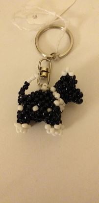 Picture of Bead dog keyring