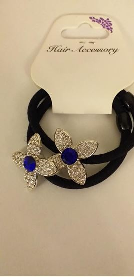 Picture of Flower gem hairbands-blue
